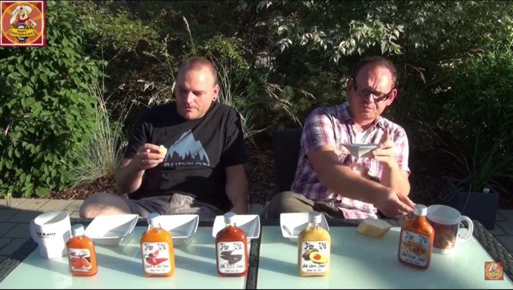 Hier wird die erste Sauce getest