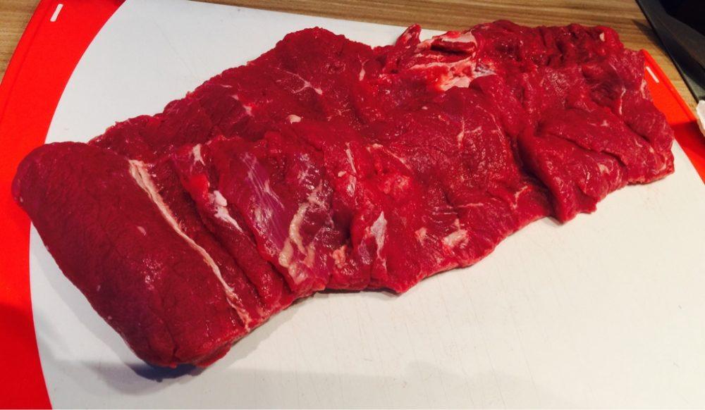 Rindfleisch für Roulade selber aufschneiden