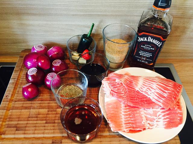 Zutaten Bacon Jam